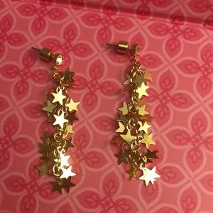 Betsey Johnson star dangle earrings